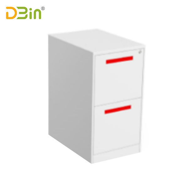 2 drawer underdesk pedestal Handle type with top