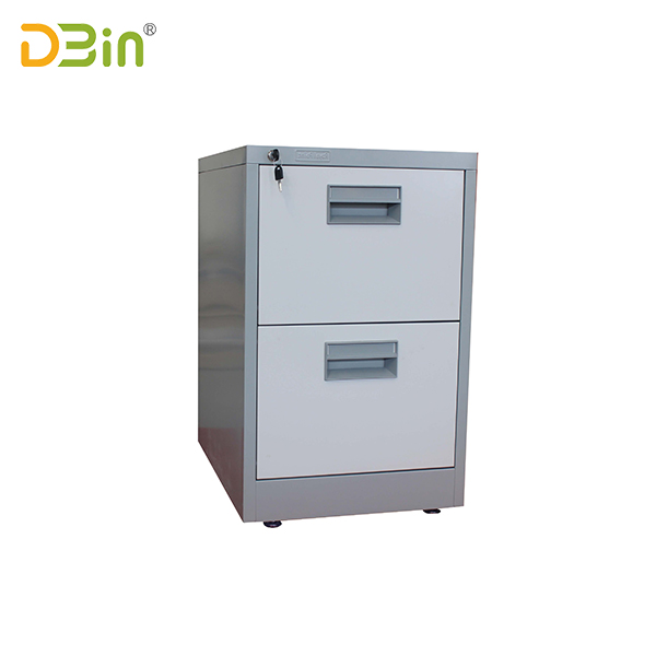 2 drawer vertical filing cabinet-Full finger handle type