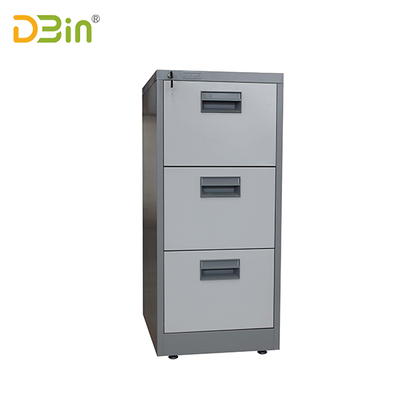3 drawer vertical filing cabinet-handle type