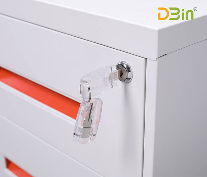 3 Drawer Underdesk Pedestal Handle Type With Top Dbin Office Furniture