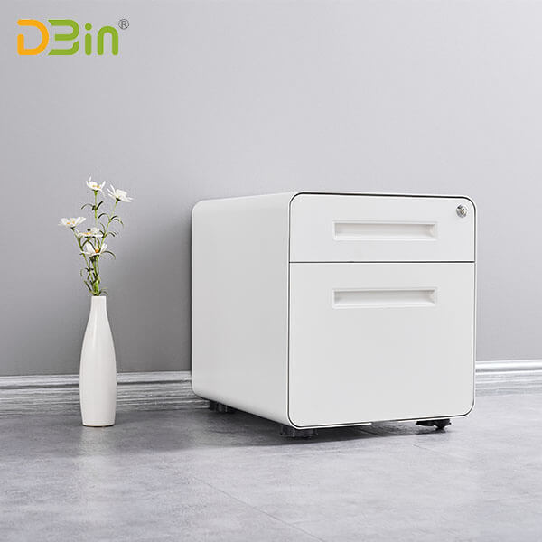 SB-X025-WH 2 drawer White Mobile Pedestal