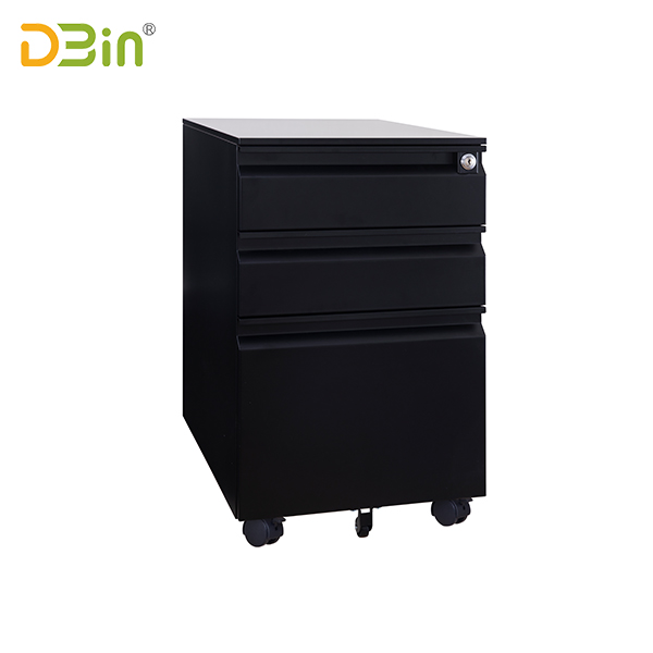 SB-X006-BK 3 Drawer Steel Mobile Pedestal