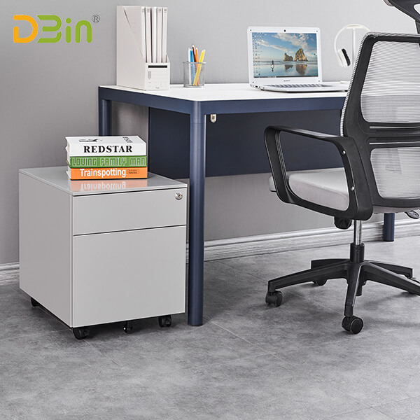 SB-X001-SL 2 drawer Steel Mobile Pedestal