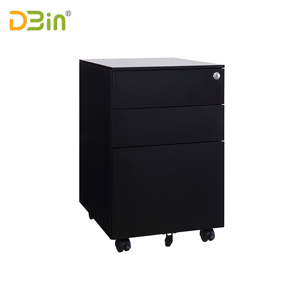 Office 3 Drawer Steel Mobile Pedestal