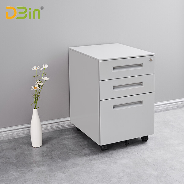 SB-X007-SL 3 drawer Steel Mobile Pedestal