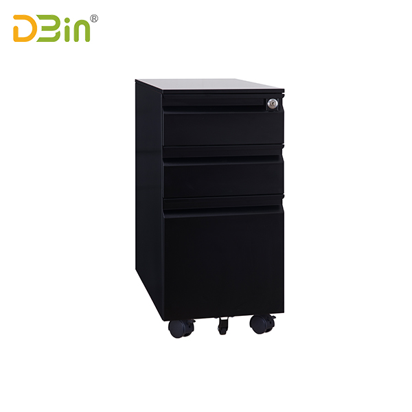 3 drawer Full Finger Type Steel Mobile Pedestal