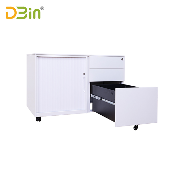 SB-X043-WH Tambour Door Mobile file cabinets