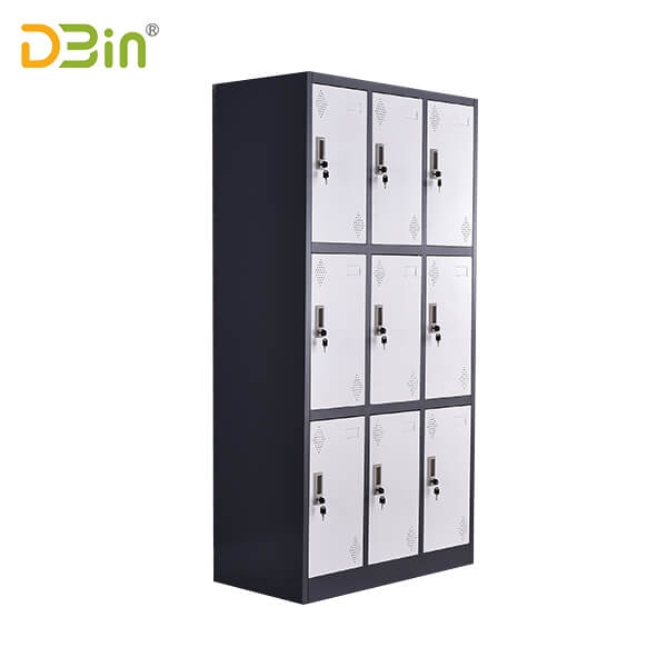 Nine Door Steel Locker